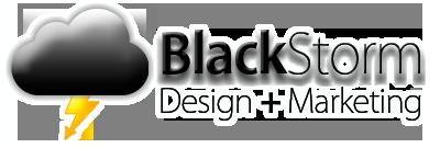Blackstorm white glow logo